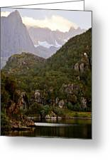 Lush Nordic Fjordland Greeting Card