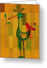 Lutgarde's Bird - 061109106-wyel Greeting Card by Variance Collections