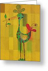 Lutgarde's Bird - 061109106y Greeting Card by Variance Collections