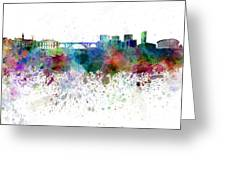 Luxembourg Skyline In Watercolor On White Background Greeting Card