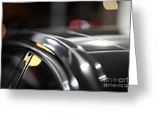 Luxury Black Car Blur Bokeh Greeting Card