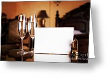Luxury Hotel Room Greeting Card