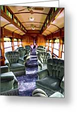 Luxury Lounge Car Of Early Railroading Greeting Card