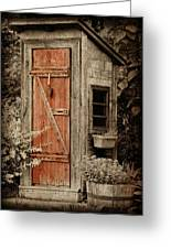 Luxury Outhouse Greeting Card