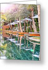 Luxury Pool With Loungers Greeting Card