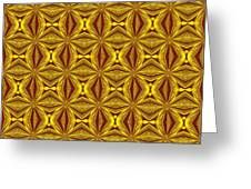 Luxury Red And Gold Christmas Kaleidoscope Greeting Card