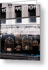Lv Gilded Cage Bags Greeting Card