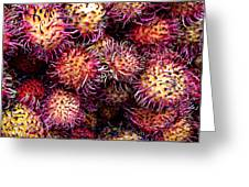 Lychee Fruit - Mercade Municipal Greeting Card