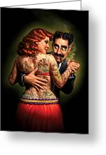 Lydia The Tattooed Lady Greeting Card