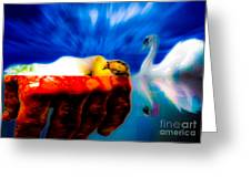 Lying In Blood Of Love Greeting Card