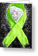 Lyme Disease Awareness Ribbon Greeting Card by Luke Moore