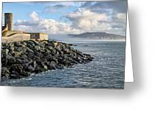 Lyme Regis - View Towards Charmouth Greeting Card