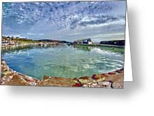 Lyme Regis Harbour -- Painterly Greeting Card