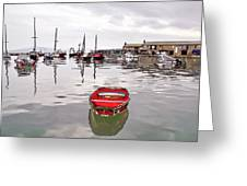 Lyme Regis Harbour Abstract Greeting Card