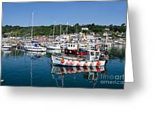 Lyme Regis Harbour On A July Morning Greeting Card