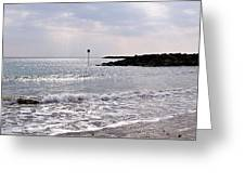 Lyme Regis Seascape - March Greeting Card