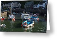 Lynmouth Harbour Devon Greeting Card