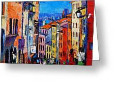 Lyon Colorful Cityscape Greeting Card
