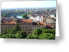 Lyon From Above Greeting Card
