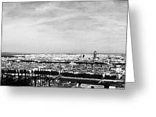 Lyon From The Basilique De Fourviere-bw Greeting Card