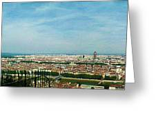 Lyon From The Basilique De Fourviere-color Greeting Card