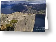 Lysefjord With Prekestolen Greeting Card