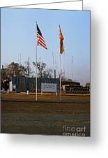 Lz Oasis 3d Brigade None Better Headquarters 4th Infantry Division Vietnam  1969 Greeting Card