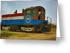 M A Patout Sugar Mill Train Greeting Card