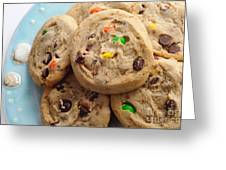 M And M - Chocolate Chip - Cookies - Bakery Shop Greeting Card