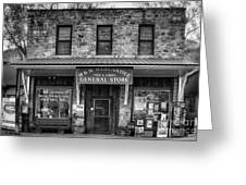 M And M Mercantile Bw Greeting Card