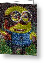 M And M Minion   Greeting Card