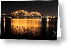 The Hernando De Soto Bridge M Bridge Or Dolly Parton Bridge Memphis Tn  Greeting Card