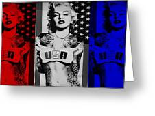 M M U S A In Red White And Blue Greeting Card