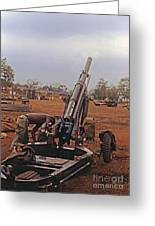 M102 105mm Light Towed Howitzer  2 9th Arty At Lz Oasis R Vietnam 1969 Greeting Card