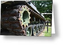 M60 Patton Artillery Tank Tread Greeting Card
