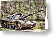 M60 Patton Tank Greeting Card by Olivier Le Queinec