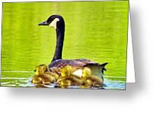 Ma And Kids Greeting Card
