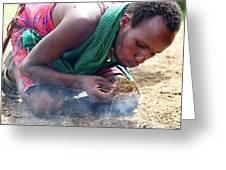 Maasai Fire Maker Greeting Card