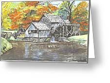 Mabry Grist Mill In Virginia Usa Greeting Card