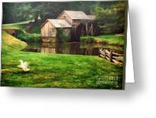 Mabrys Mill And The Welcoming Committee Greeting Card
