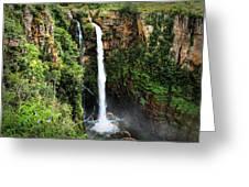 Mac Mac Waterfall In South Africa Greeting Card