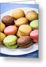 Macaroon Cookies Greeting Card by Elena Elisseeva