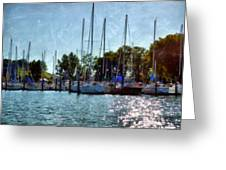 Macatawa Masts Greeting Card