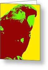 Macaw Pop Art Greeting Card