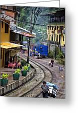 Macchu Picchu Town - Peru Greeting Card