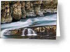 Macdonald Creek Falls Glacier National Park Greeting Card