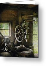 Machine Shop - An Old Drill Press Greeting Card