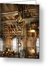 Machinist - In The Age Of Industry Greeting Card by Mike Savad