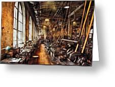 Machinist - Machine Shop Circa 1900's Greeting Card