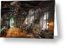 Machinist - The Millwright  Greeting Card